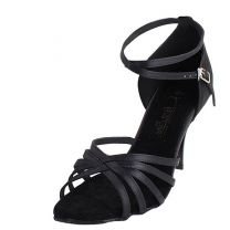 Black Satin / Black Plated Heel